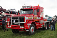 A 1980s Scammell S24 Haulage Tractor