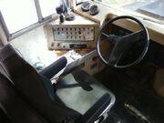 School bus cockpit