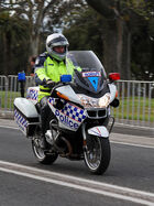 Victorian Police Motorcycle, Geelong, Aust, jjron, 30.9.2010