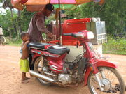 Cambodia ice cream motorcycle