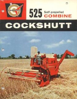 Cockshutt 525 combine ad