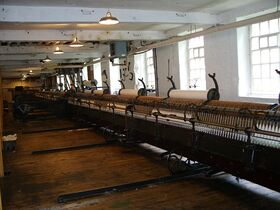 Mule spinning machine at Quarry Bank Mill