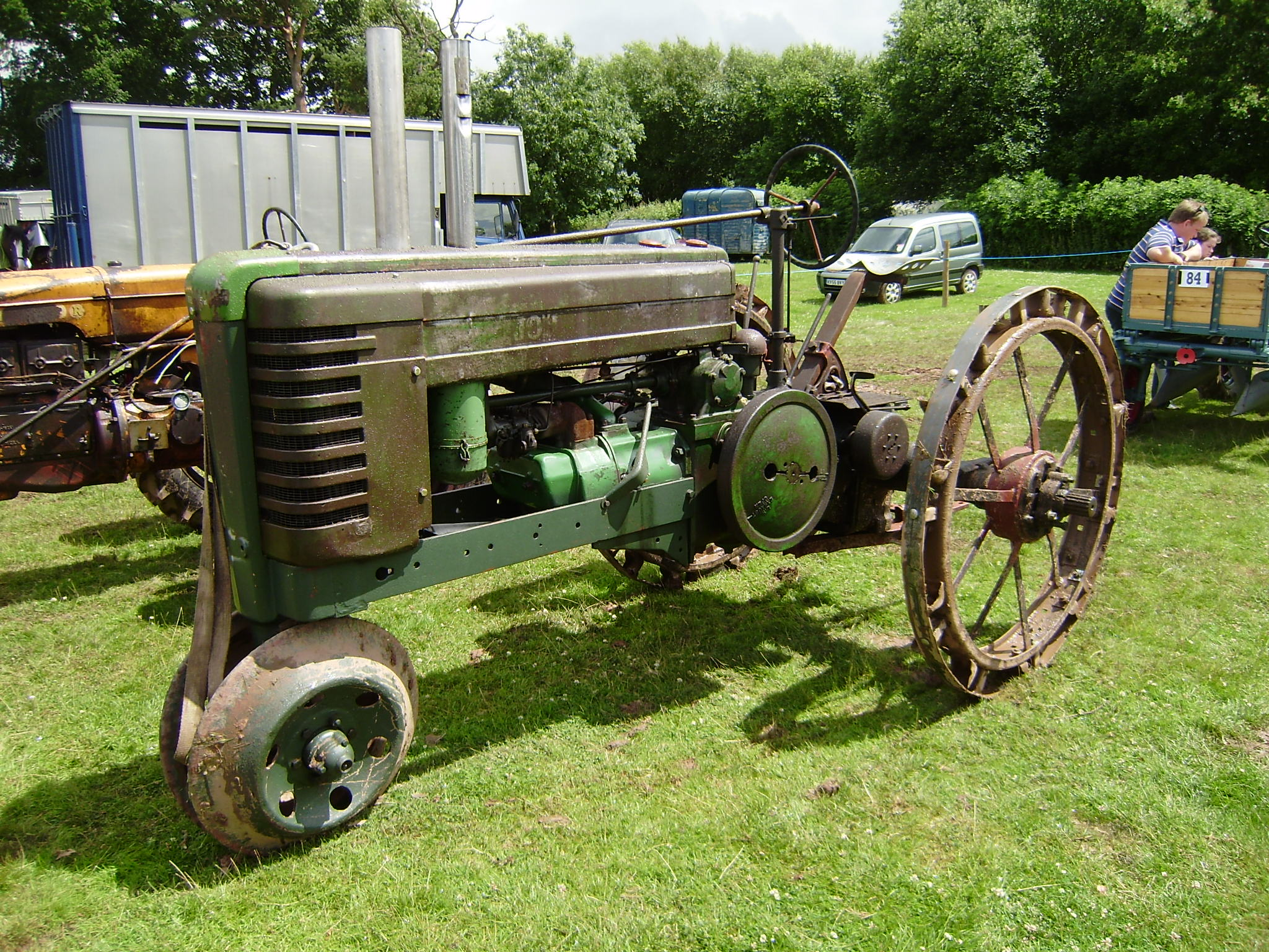 List Of John Deere Tractors Tractor Construction Plant Wiki Farm 2240 Wiring Diagram Model B On Row Crop Lugged Wheels Part Restored At Bromyard Show 2008