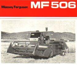 MF 506 combine brochure