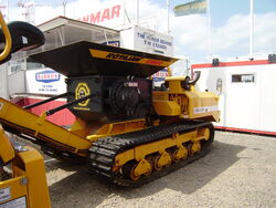 Crusher on tracked dumper chassis
