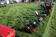 Line of manual and motor mowers and ride on mowers at Scorton NY show 09 - IMG 2155