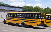 School bus - Thomas - Saf-T-Liner C2 - rear view - Kennebunk
