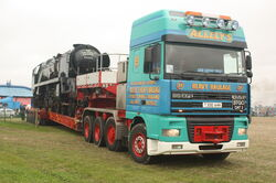 Alleys HH Daf with 6 axle Goldhofer trailer and Locomotive at GDSF 08