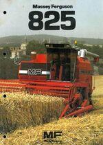 MF 825 combine brochure