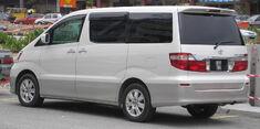 Toyota Alphard (first generation) (rear, white), Serdang