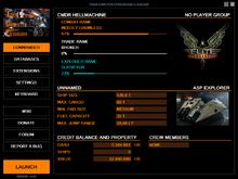 Commander tab