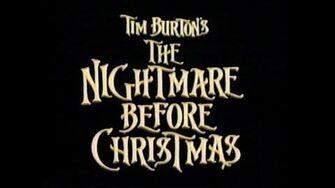 the nightmare before christmas movie trailer vhs 1993 - The Night Before Christmas Trailer