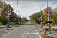 4-Quadrant Gate Crossing in Bloomington Illinois, 6 Points Road