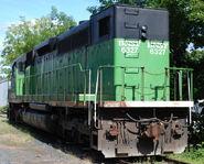 BNSF SDP40 Rear