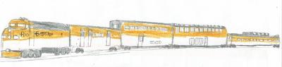 Rio Grande Passenger Train Picture (Work in Progress, Close Up)