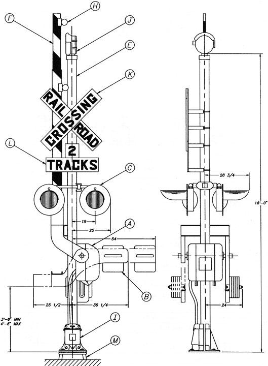 wiring railroad crossing