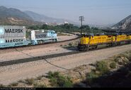 ATSF Maersk Train At Cajon Pass