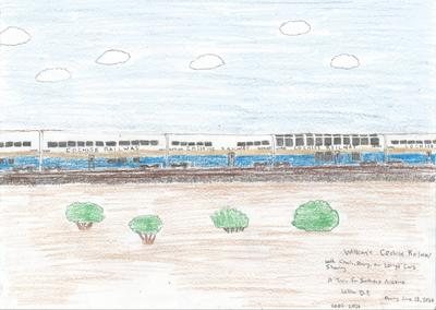 Cochise Railway Train Drawing 002