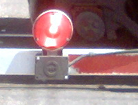 Crossing gate arm light alone