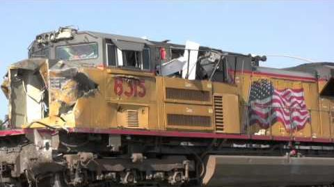 UP Train Wreck in Fontana CA - The scene 17 hours later