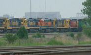 BNSF C30-7's