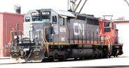 Grey CN SD40-2