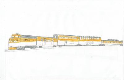 Rio Grande Passenger Train Picture (Work in Progress)