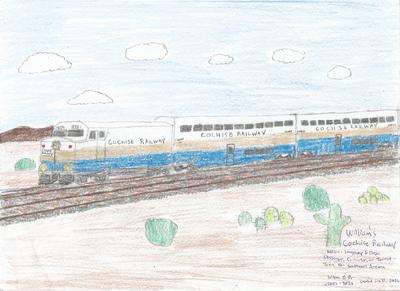 Cochise Railway Passenger Train Drawing 001