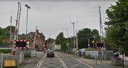 British 4-Quadrant Gate Crossing, Victoria Road, Netherfield, Nottingham, UK