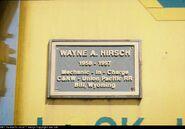 CNW 8801 plaque