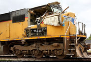 Wrecked UP SD70M