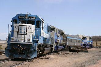 EMD SD70ACe Test Train