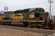 UP SD40T-2 DRGW