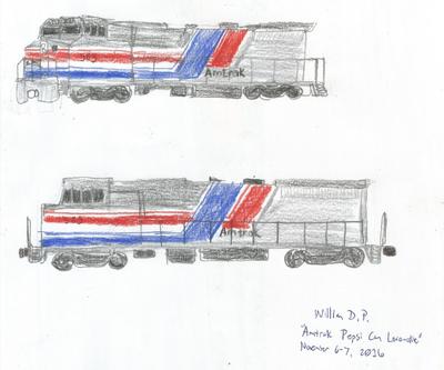Amtrak Pepsi Can Locomotive
