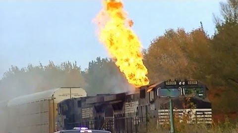 Norfolk Southern Train on Fire