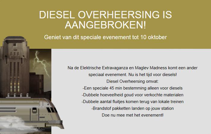 Aankondiging Diesel Overheersing