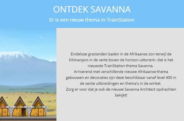 Aankondiging Savanna 2018