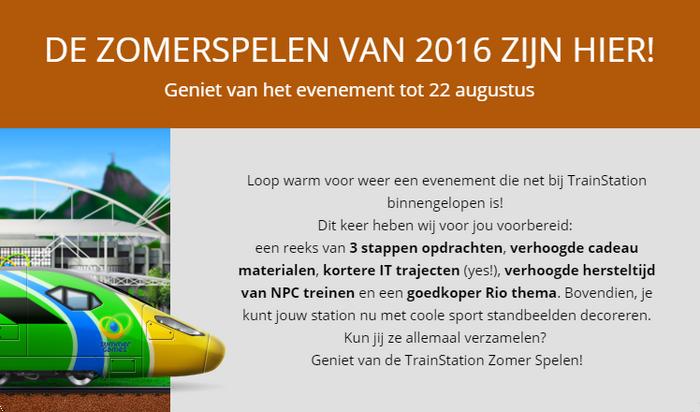 Aankondiging Zomerspelen 2016
