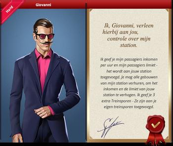 Giovanni Certificate