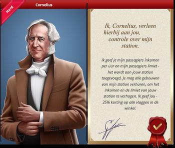 Cornelius Certificate