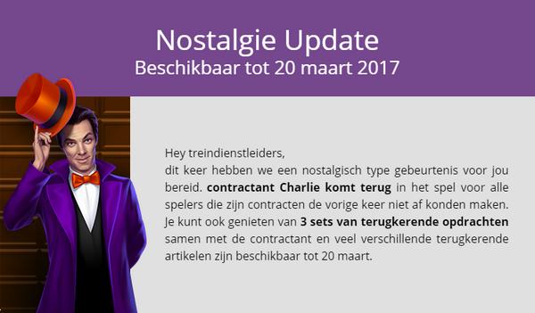 Aankondiging Nostalgie (2017)