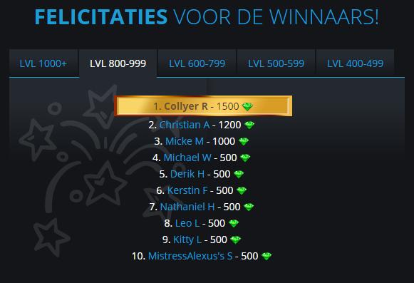 Winnaars Manager Carl 800-999
