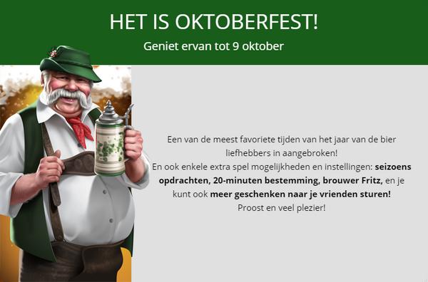 Aankondiging Oktoberfest 2017