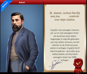 Antoni Certificate