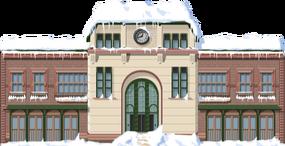Snowy Suburb Station