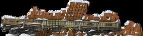 Aged Brick Flatcar