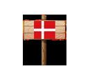 Sign - DEN (Wood)