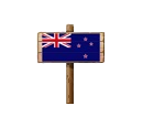 Sign - NZL (Wood)