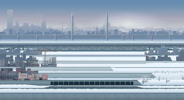 Snowy Metropolis Theme screenshot