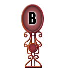 Character Sign B (Red)